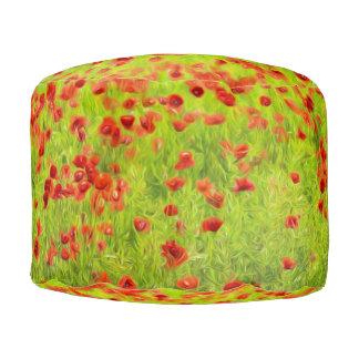 Wunderbare Mohnblumen-Blumen VIII - Mohnbluhmen Runder Sitzpuff