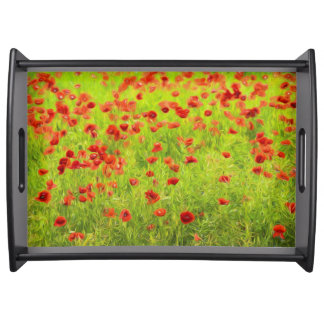 Wunderbare Mohnblumen-Blumen VIII - Mohnbluhmen Tablett