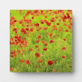 Wunderbare Mohnblumen-Blumen VIII - Wundervolle Fotoplatte
