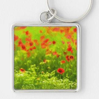 Wunderbare Mohnblumen-Blumen VIII - Wundervolle Schlüsselanhänger