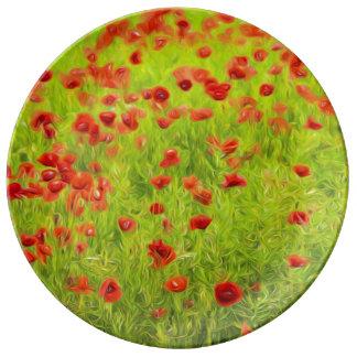 Wunderbare Mohnblumen-Blumen VIII - Wundervolle Teller