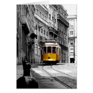 Wunderbare Tram-Linie 28 in Lissabon Karte