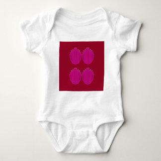 Wunderbare Verzierungen rosarot Baby Strampler