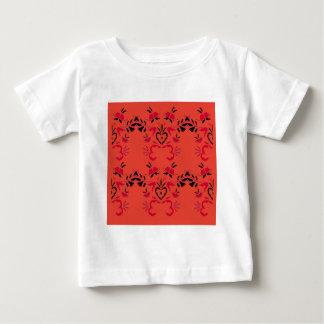 Wunderbare Völker entwerfen Orange Baby T-shirt