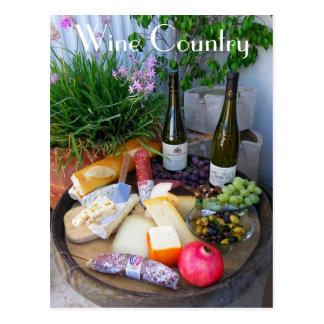 Wunderbare Wein-Land-Postkarte! Postkarte