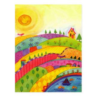 wunderbare Welt Postkarte