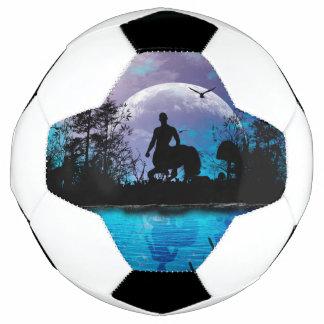 Wunderbare Zentaur-Silhouette Fußball