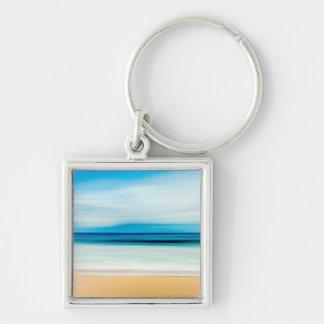 Wunderbarer entspannender Sandy-Strand-blauer Schlüsselanhänger