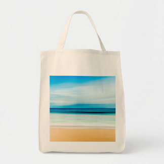 Wunderbarer entspannender Sandy-Strand-blauer Tragetasche