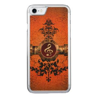 Wunderbarer goldener Clef Carved iPhone 8/7 Hülle