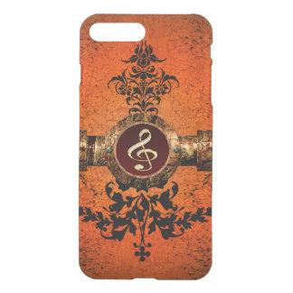 Wunderbarer goldener Clef iPhone 8 Plus/7 Plus Hülle