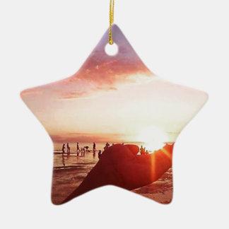 Wunderbarer und unglaublicher Sonnenuntergang in Keramik Ornament