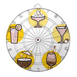 Wunderbares Cocktailgelb auf Weiß Dartscheibe