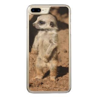 Wunderbares niedliches süßes Afrikaner Meerkat Carved iPhone 8 Plus/7 Plus Hülle