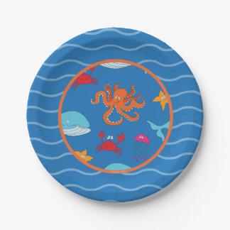 """Wunderlich unter dem SeePappteller 7"""", dunkelblau Pappteller"""