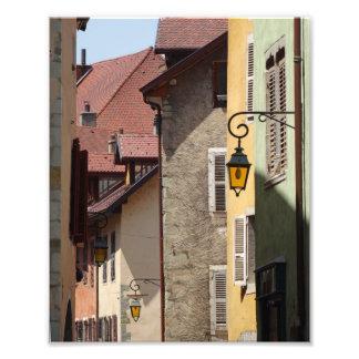 Wunderliche alte Gebäude in Annecy, Frankreich Fotodruck