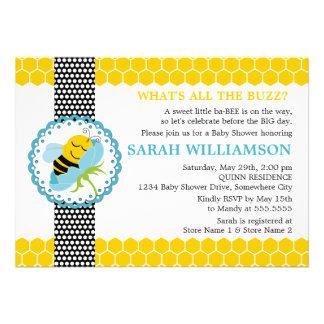 Wunderliche Bienen-Babyparty-Einladung