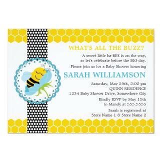 Wunderliche Bienen-Babyparty-Einladung 12,7 X 17,8 Cm Einladungskarte