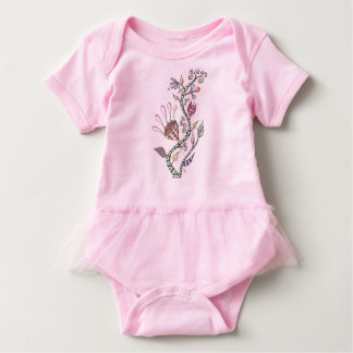 Wunderliche Blumen Baby Strampler