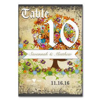 Wunderliche Blumen-Baum-Hochzeit Karte