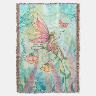Wunderliche Blumen-feenhafte Fantasie-Kunst Decke