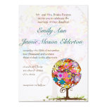Wunderliche Blumen-Liebe-Baum-Hochzeits-Einladung