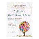 Wunderliche Blumen-Liebe-Baum-Hochzeits-Einladung 12,7 X 17,8 Cm Einladungskarte