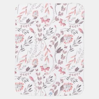 Wunderliche BlumenAquarell-Baby-Decke Babydecke
