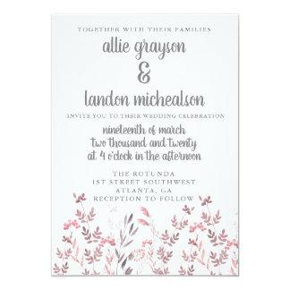 Wunderliche BlumenAquarell-Hochzeits-Einladung Karte