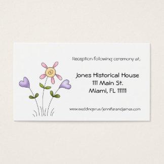 Wunderliche Blumenhochzeits-Empfangs-Karten Visitenkarte