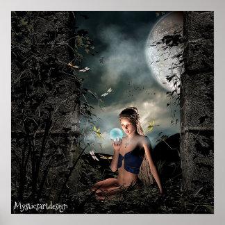 Wunderliche Fee, die magischen Ball in der Poster