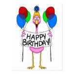 Wunderliche Flamingo-alles- Gute zum Geburtstagbal Postkarten