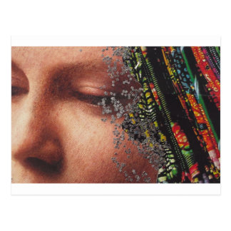 Wunderliche Frauen-Kunst-Collage Postkarte