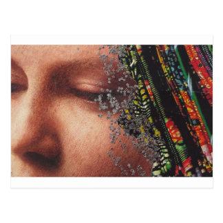 Wunderliche Frauen-Kunst-Collage Postkarten