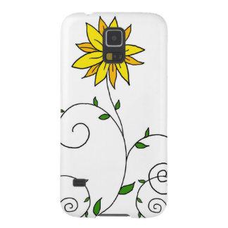 Wunderliche gelbe Blumen-Gekritzel-Kunst Galaxy S5 Hülle