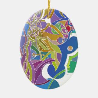 Wunderliche Grafik Ovales Keramik Ornament
