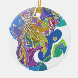 Wunderliche Grafik Rundes Keramik Ornament