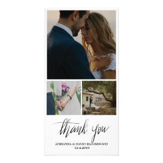Wunderliche handgeschriebene danken Ihnen Hochzeit Karte