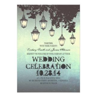 Wunderliche hängende Lampe beleuchtet Ankündigungskarte