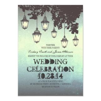 Wunderliche hängende Lampe beleuchtet 12,7 X 17,8 Cm Einladungskarte