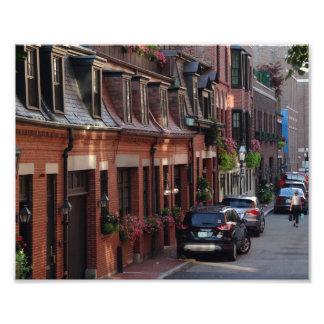 Wunderliche Häuser unterstützen Fotodruck
