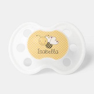 Wunderliche Hummel-Biene personalisiert Schnuller