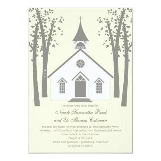 Wunderliche Kapellen-Hochzeits-Einladung 12,7 X 17,8 Cm Einladungskarte