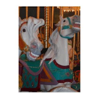 Wunderliche Karussell-Pferdephotographischer Druck Acryldruck