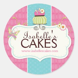 Wunderliche Kuchen-Aufkleber