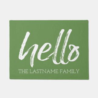 Wunderliche kundenspezifische Familie hallo - KANN Doormat