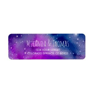 Wunderliche lila Adressen-Etiketten