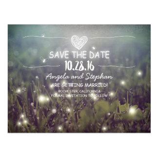 wunderliche Nacht beleuchtet Save the Date Postkarte