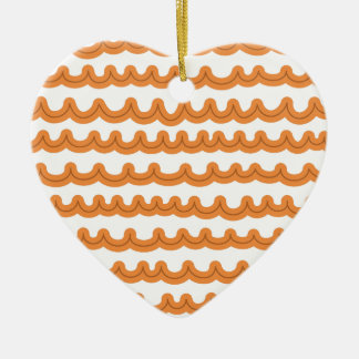 Wunderliche Ozean-Wellen-Melone Keramik Herz-Ornament