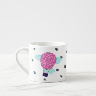 Wunderliche rosa Heißluft-Ballon-Tasse Espressotasse